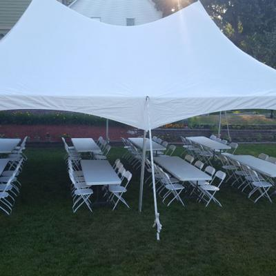20 X 30 w/ Long Tables and Chairs