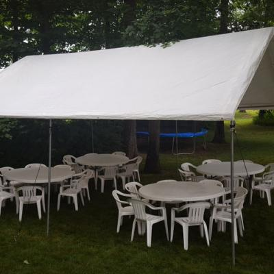 Pole Tent w/Round Tables and Chairs