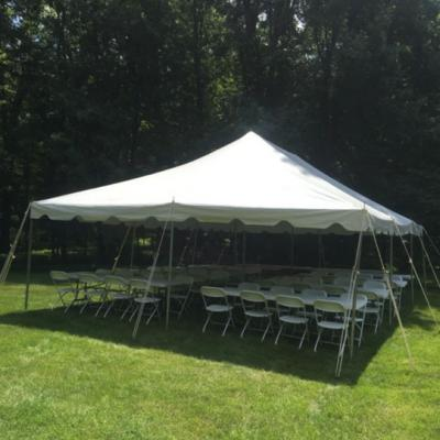 20 X 40 Pole Tent w/Table sand Chairs