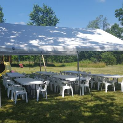 20 X 20 Canopy Tent w/Tables and Chairs