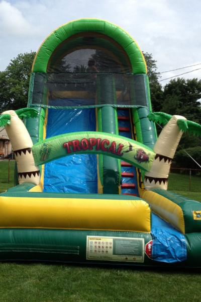 15' Tropical themed slide