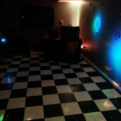 Portable Dance Floor In The Dark